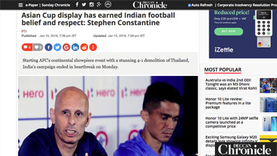 Asian Cup display has earned Indian football belief and respect: Stephen Constantine