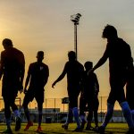 training goes on to late evening