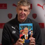 Arsene Wenger with my autobiography