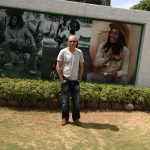 Outside the legend Bob Marley's house in Kingston, Jamaica 2013