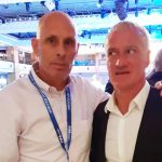 Getting the eye from Didier Deschamps,France and Chelsea legend
