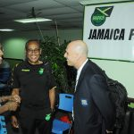 With Vin Blaine the Technical Director of Jamaica  - FIFA 2013