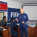 Delivering to the DPRK Coaches on a FIFA Training Course in Pyongyang in 2017