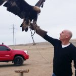 With Golden Eagle in Mongolia