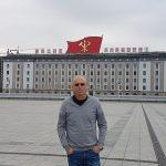 Standing in Kim II-sung Square, Pyongyang 2017