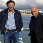 On Brighton Pier with Lawrie Sanchez
