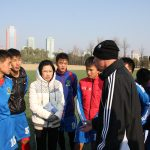 With Ms Kim Kun Hyang LOCAL TRANSLATOR explaining the sessions to the players