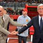 Post Game Handshake with China's Marcello Lippi