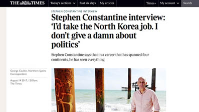 'I'd take the North Korea job. I don't give a damn about politics'