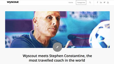 Stephen Constantine, you are the football's most travelled coach, having managed teams across 4 continents.